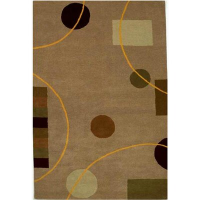 Contempo Beige/Brown Area Rug Rug Size: 5 x 8