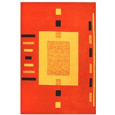 Contempo Orange/Yellow Area Rug Rug Size: 8 x 106