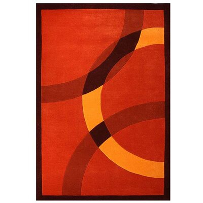 Contempo Dark Orange/Yellow Area Rug Rug Size: 8 x 106