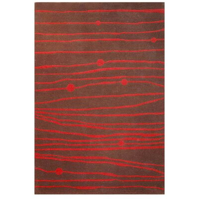 Contempo Brown/Red Area Rug Rug Size: 5 x 8