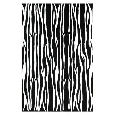 Contempo Black/White Area Rug Rug Size: 5 x 8