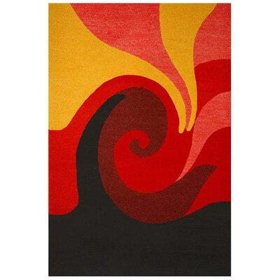 Contempo Red/Black Area Rug Rug Size: 5 x 8
