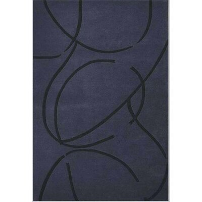 Contempo Dark Blue/Black Area Rug Rug Size: 8 x 106