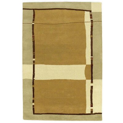Contempo Gold/Cream Area Rug Rug Size: 8 x 106