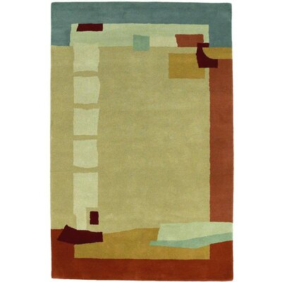 Contempo Beige / Red Contemporary Rug