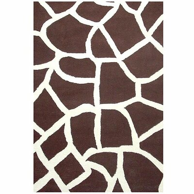 Contempo Brown/White Area Rug Rug Size: 5 x 8