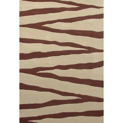 Contempo Beige/Brown Area Rug Rug Size: 8 x 106