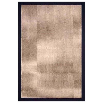 Sisal Hand-Woven Natural/Black Area Rug Rug Size: Rectangle 5 x 8