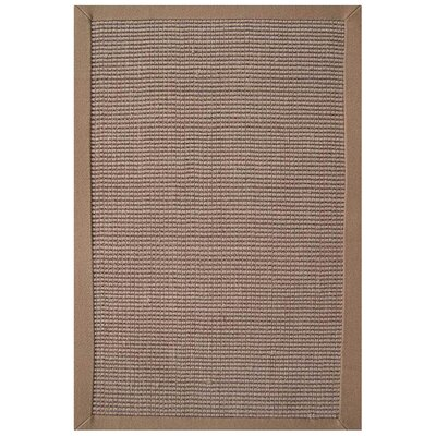 Sisal Hand-Woven Natural/Khaki Area Rug Rug Size: Rectangle 8 x 10