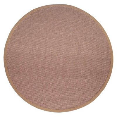 Sisal Hand-Woven Natural/Khaki Area Rug Rug Size: Round 6