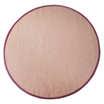 Sisal Natural/Red Rug Rug Size: Round 8'