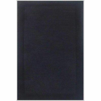 Loom Black/Dark Black Rug Rug Size: 5 x 8