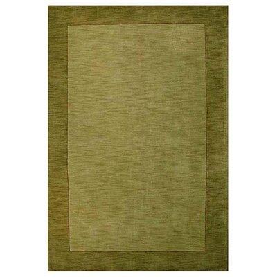 Loom Green/Dark Green Rug Rug Size: 5 x 8