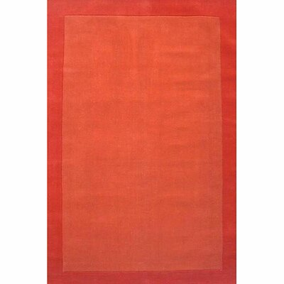 Loom Orange/Dark Orange Rug Rug Size: 5 x 8