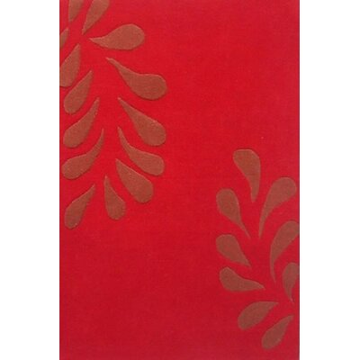 Modern Red/Brown Area Rug Rug Size: 5 x 8