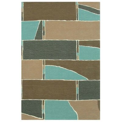 Modern Blue/Brown Area Rug Rug Size: 5 x 8