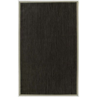 Black Indoor/Outdoor Area Rug Rug Size: 5 x 8