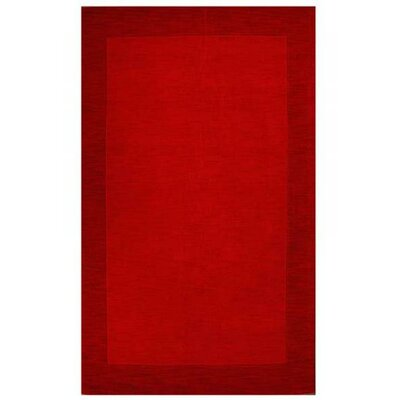 Loom Red / Dark Red Contemporary Rug