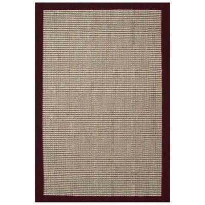 Sisal Natural/Cherry Rug Rug Size: 5 x 8