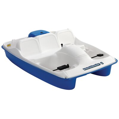 Image of KL Industries Water Wheeler Five Person Pedal Boat in Cream / Blue (WW5BL)