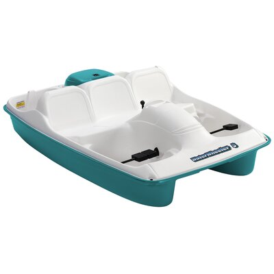 Image of KL Industries Water Wheeler Five Person Pedal Boat in Cream / Aqua (WW5AQ)