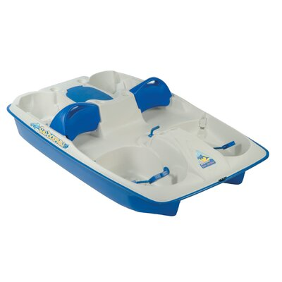 Image of KL Industries Sun Slider Five Person Pedal Boat with Adjustable Seats and Stainless Steel Package in Cream / Blue (31141)