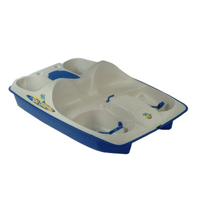 KL Industries Sun Dolphin Five Person Pedal Boat in Cream / Blue at Sears.com