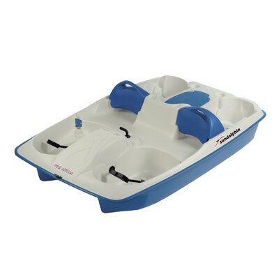 KL Industries Sun Slider Five Person Pedal Boat with Adjustable Seats and Stainless Steel Package in Cream / Blue at Sears.com