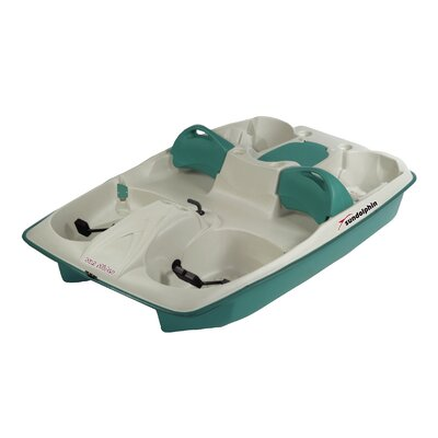 KL Industries Sun Slider Five Person Pedal Boat with Adjustable Seats and Stainless Steel Package in Cream / Teal at Sears.com