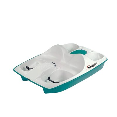 KL Industries Sun Dolphin Five Person Pedal Boat in Cream / Teal with Stainless Steel Package at Sears.com