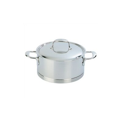 Atlantis Stainless Steel Round Dutch Oven Size: 2.3-qt. image
