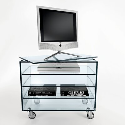 Grattacielo Fix 8d Glass Tv Stand