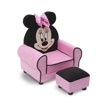 Delta Children Minnie Mouse Kids Club Chair & Ottoman UP85751MN