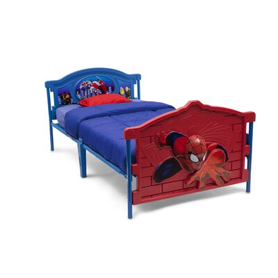 Marvel Spider-Man 3-D Twin Convertible Toddler Bed