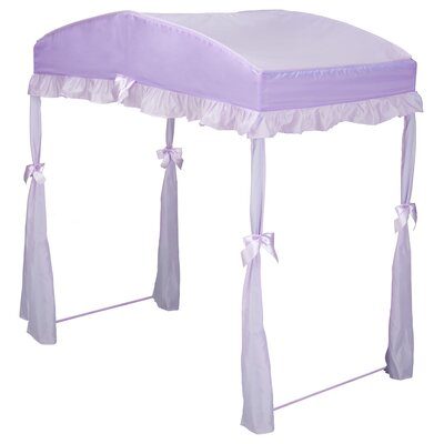 Childrens Girls Canopy for Toddler Bed Color: Purple