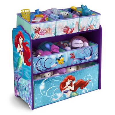 Delta Children Little Mermaid Multi-Bin Toy Organizer TB84941LM
