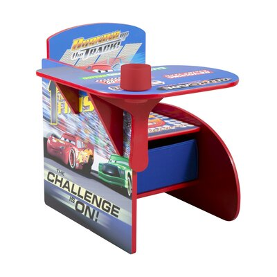Cars Kids Desk Chair with Storage Compartment and Cup Holder TC83948CR