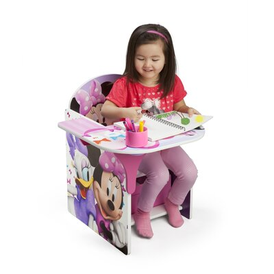 Minnie Kids Desk Chair with Storage Compartment and Cup Holder TC85663MN