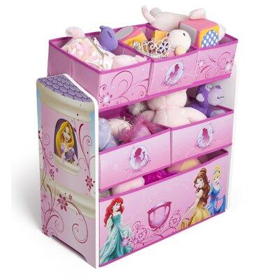 Delta Children Princess Multi-Bin Toy Organizer TB84886PS