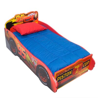Disney Pixar's Cars Wooden Toddler Bed With Scenes