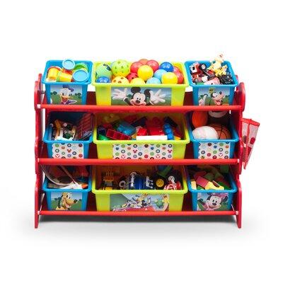 Delta Children Mickey Mouse 10 Piece Toy Organizer Set TB84412MM