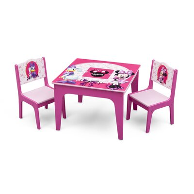 Delta Children Minnie Mouse Kids 3 Piece Table and Chair Set TT89500MN