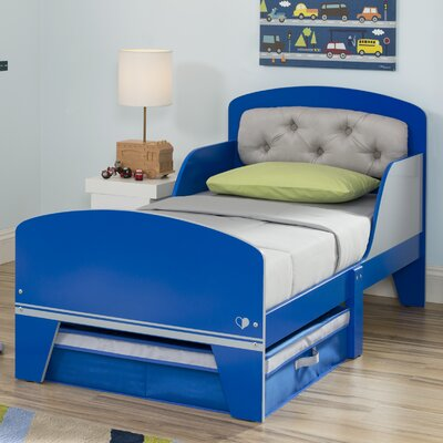Jack and Jill  Toddler Bed with Storage Color: Blue