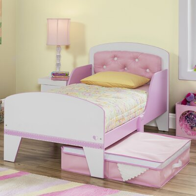 Jack and Jill  Toddler Bed with Storage Color: Pink
