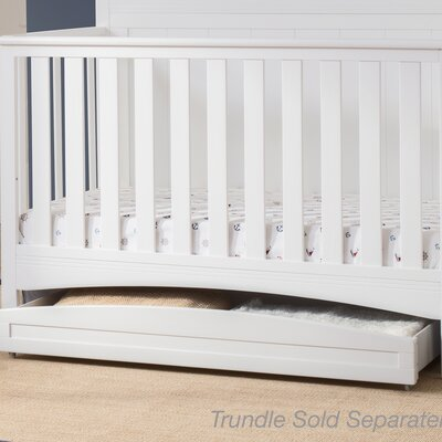 Arch Storage Trundle Color: Bianca