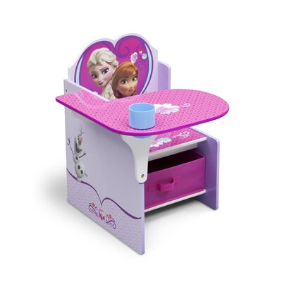 Disney Frozen Kids Desk Chair with Storage Compartment and Cup Holder TC85848FZ-1089