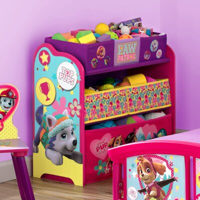 Delta children tb83328pw multi-bin toy organizer paw TB83328PW
