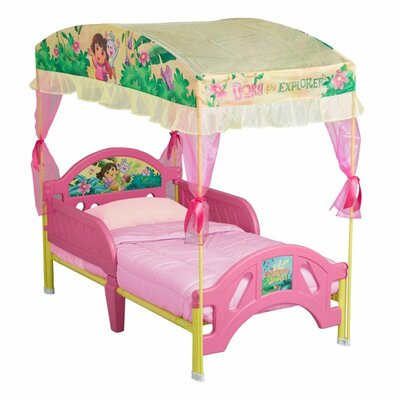 Delta Children Nickelodeon Dora the Explorer Toddler Bed with Canopy BB87070DO_999