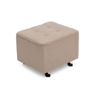 Nursery Tufted Glider Cube Ottoman Upholstery: Ecru
