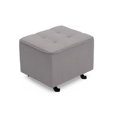 Nursery Tufted Glider Cube Ottoman Upholstery: Dove Gray